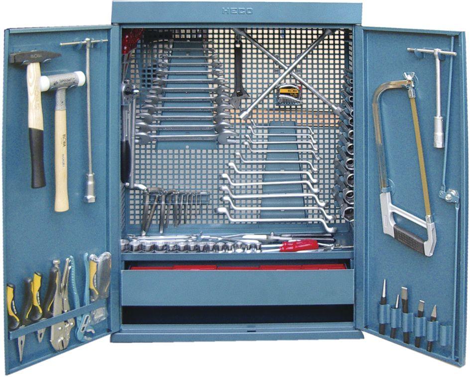 He114 heco armoires de rangement mobilier d 39 atelier for Rangement garage outils