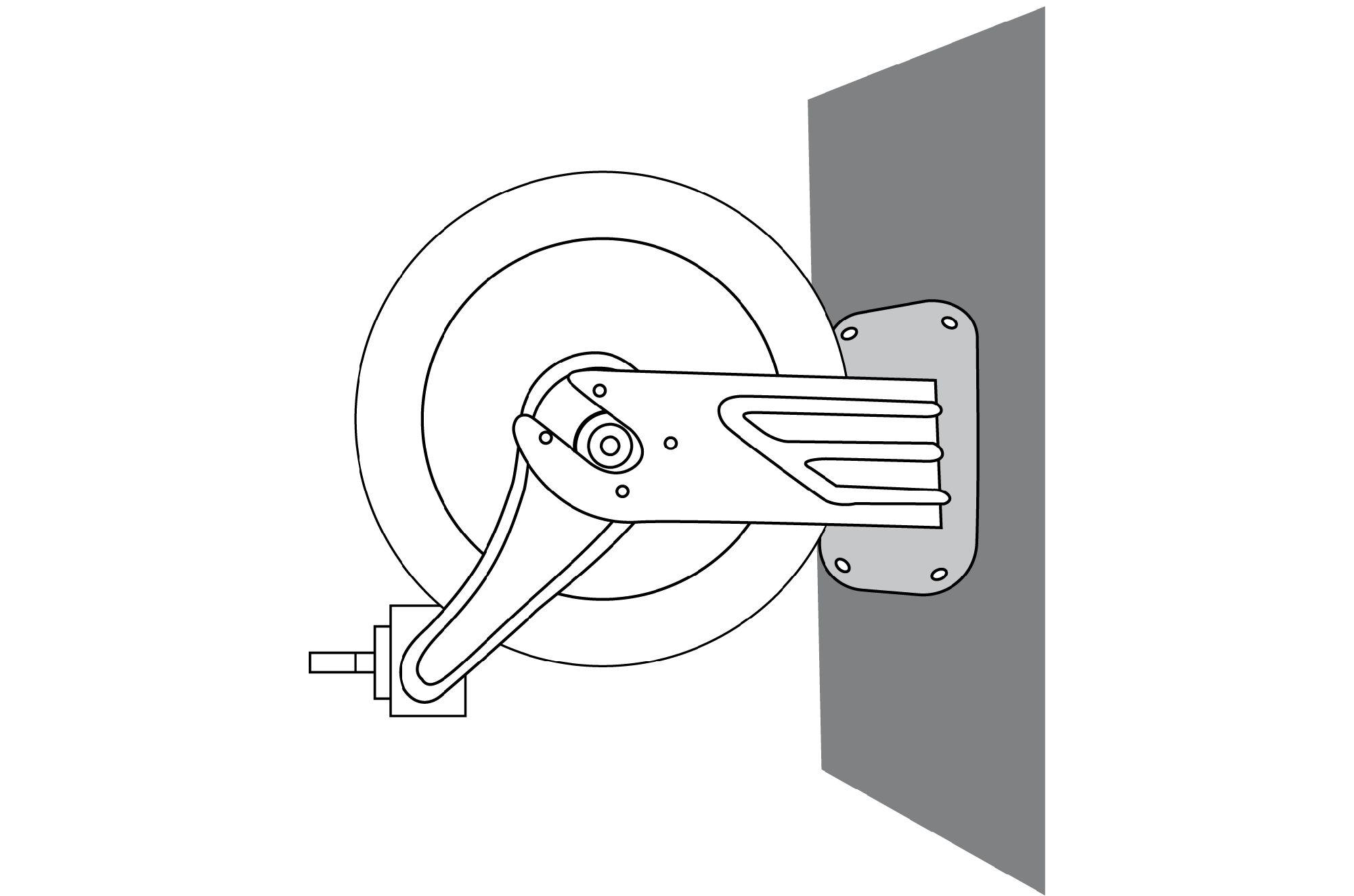 Shd1015 Airhose Reels Mechanical Workshop Equipment Vynckier Tools Technics Sa 300 Wiring Diagram Installation On The Wall