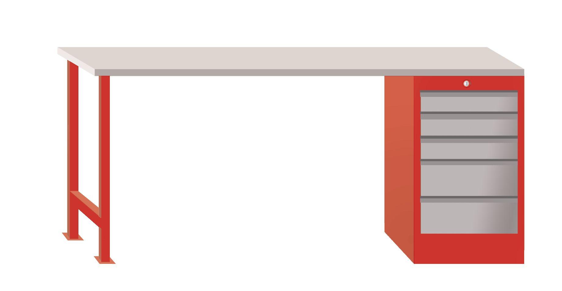 Ladekast 200 Cm.Mod201 Mw Werkbanken Werkplaatsmeubilair Vynckier Tools